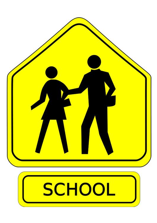 traffic sign - school