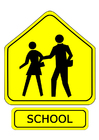 Images traffic sign - school