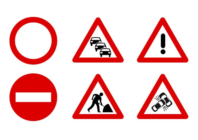 Image traffic signs