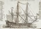 Image triple mast sailing warship