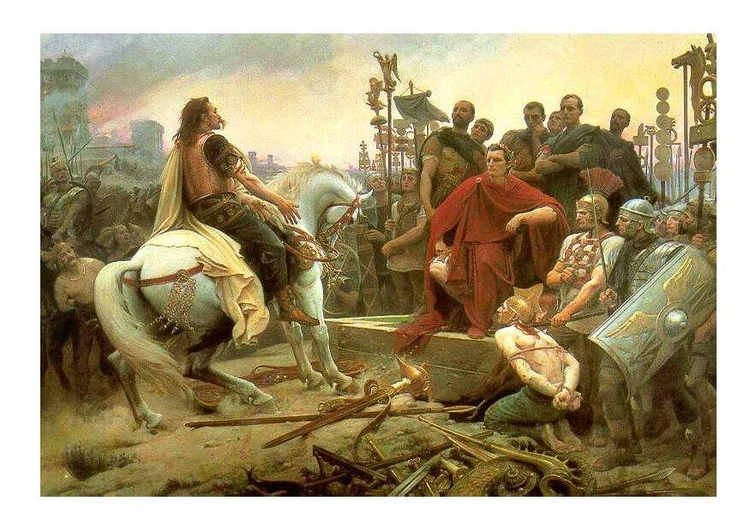 Image Vercingetorix surrenders to Caesar