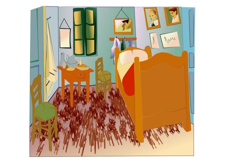 Image Vincent van Gogh - bedroom in Arles - Img 28043