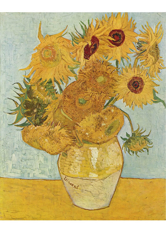 Image Vincent Van Gogh - Sunflowers