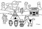 Coloring page Wild West