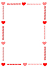 Image writing paper Valentine