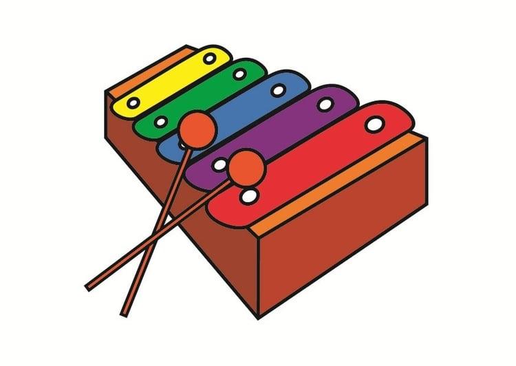Картинка ксилофон для детей