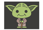 Coloring pages Yoda