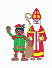 Image Zwarte Piet and St. Nicholas