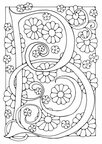 letter b. Coloring page letter - B