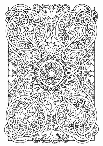 Coloring page mandala