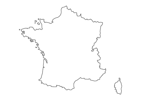 outline map of france with cities. map of france with cities