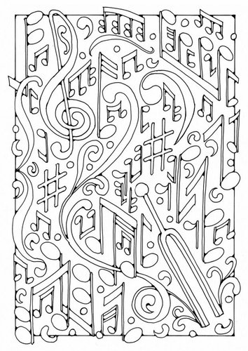 Раскраски страницу Музыка