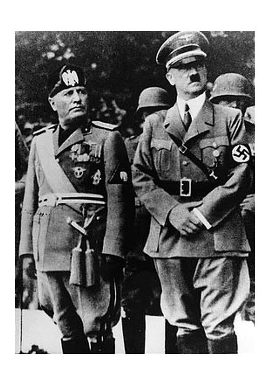 Photo Adolf Hitler and Benito Mussolini