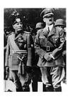 Photo Adolf Hitler and Benito Mussolini