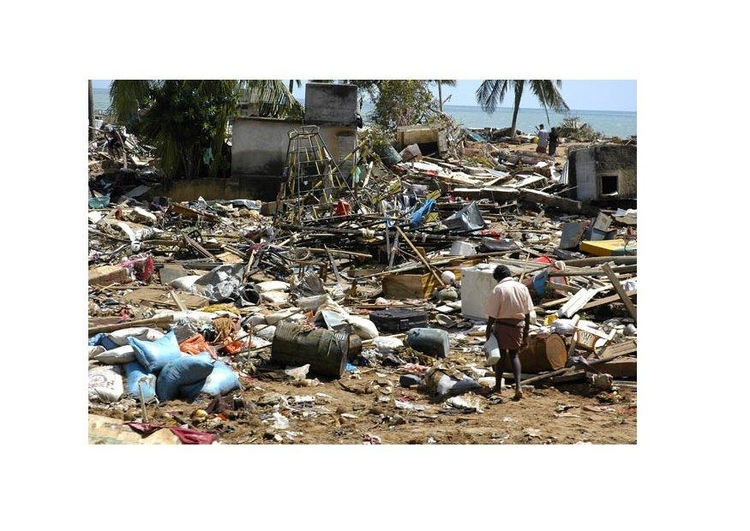 Photo after a tsunami...