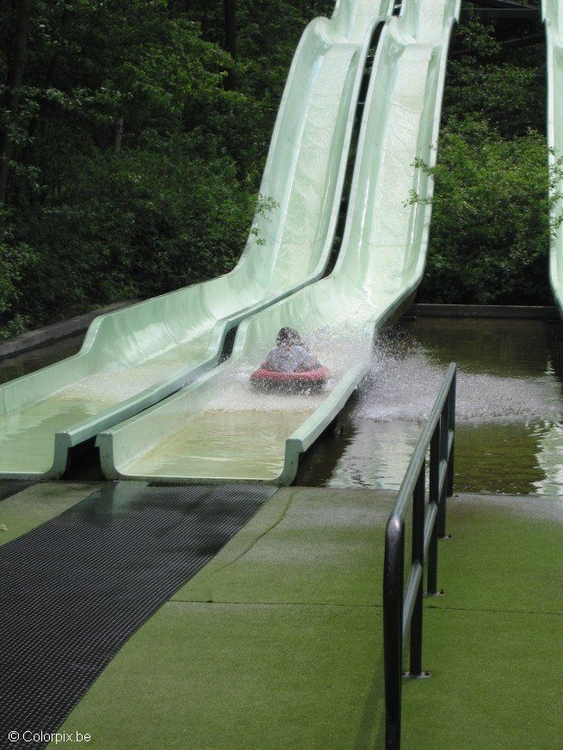 Photo amusement park water slide