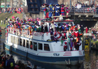 Photo arrival of the boat from St Nicholas