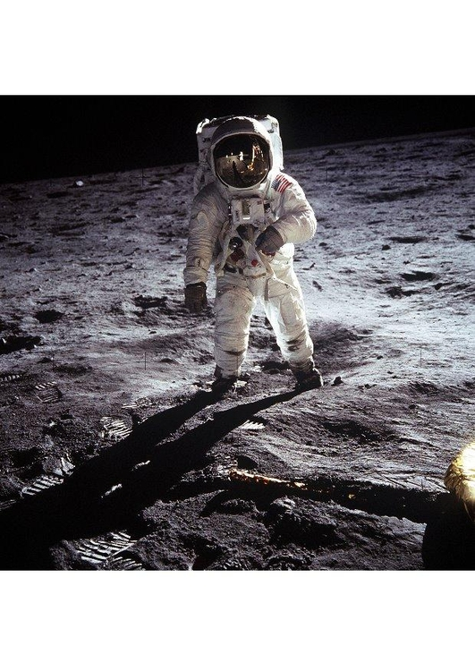 Photo astronaut on the moon