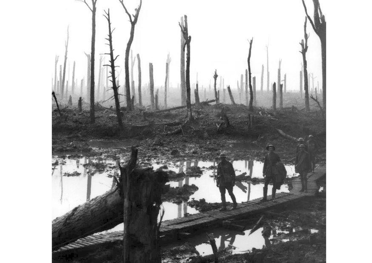 Photo battlefield WWI