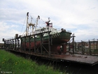 Photo boat in dry dock