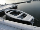 Photo boat in winter