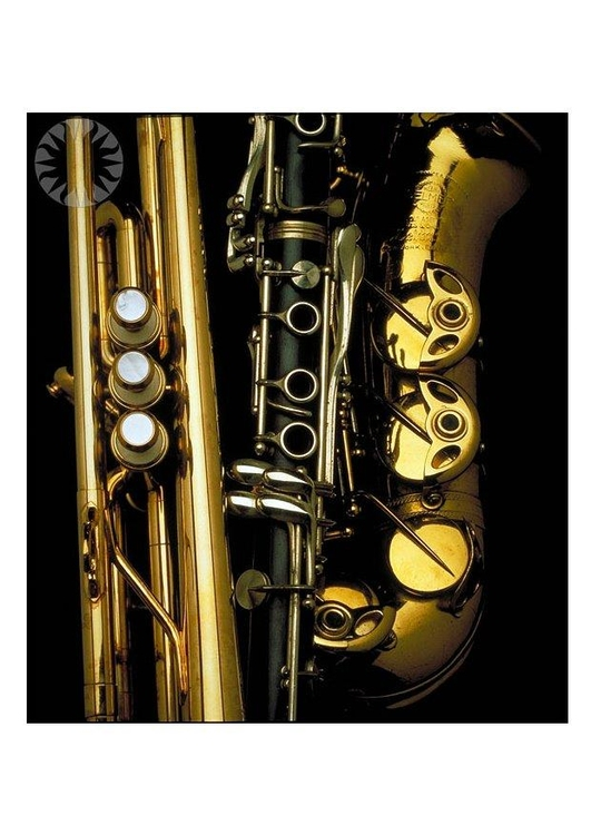 Photo brass and woodwind instruments