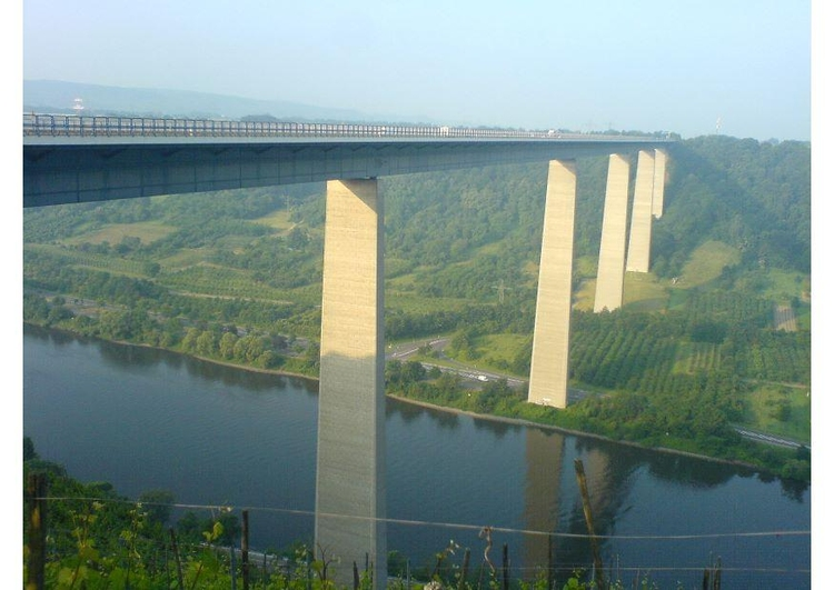 Photo bridge over the Moezel in Germany