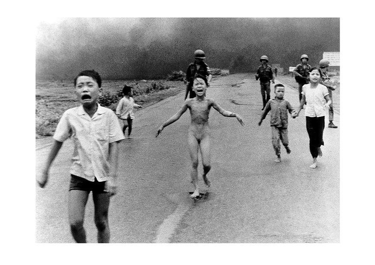 Photo children after Napalm attack