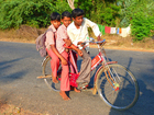Photo children on bicycle