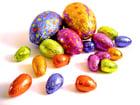Photo chocolate eggs
