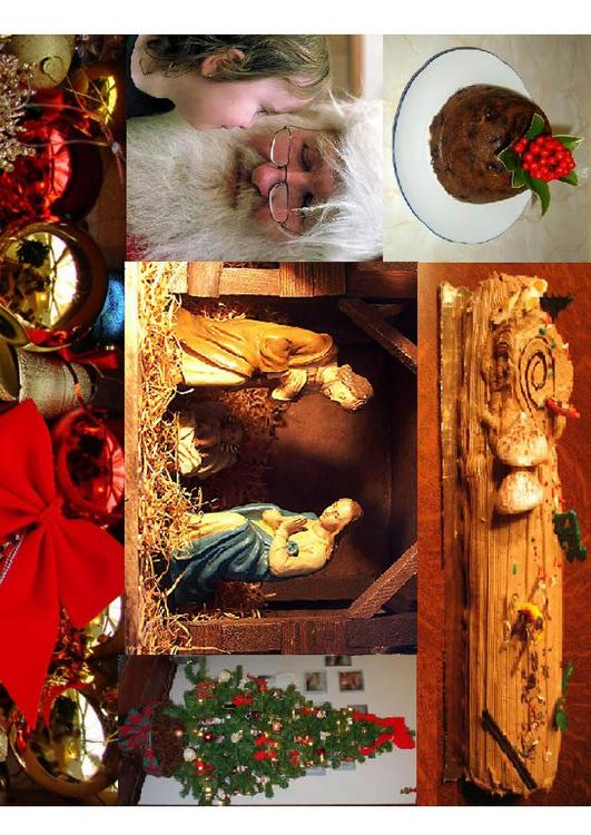 Christmas picture collage