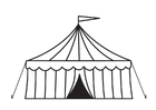 Coloring page circus tent
