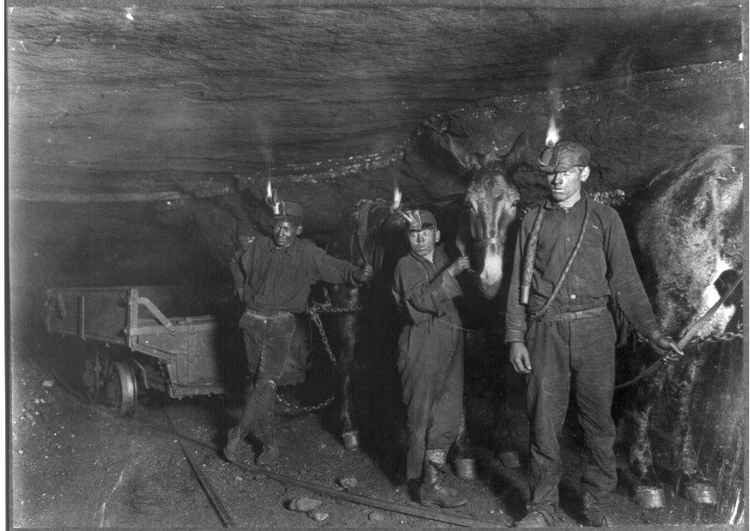 Photo coalminers, 1908