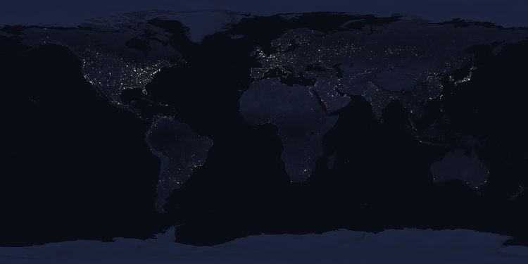 Photo Earth by night
