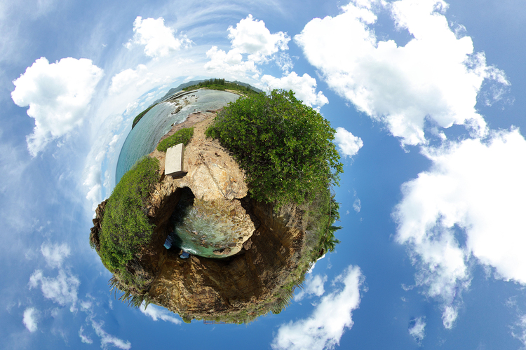 Photo Earth - Panorama effect
