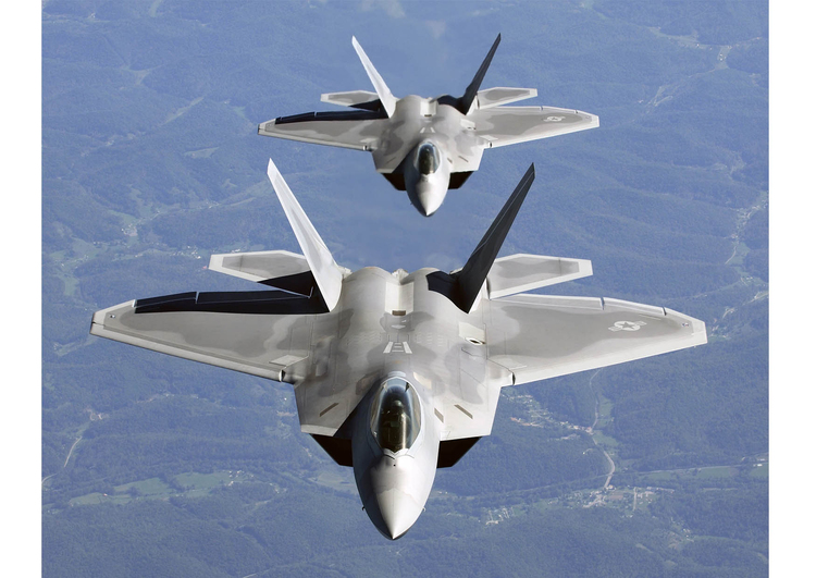 Photo F-22A Raptor in formation