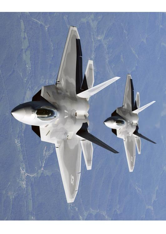 F-22A Raptor in formation