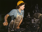 Photo female factory worker - 1942