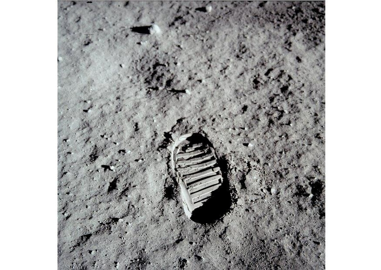 Photo first steps on moon