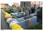 Photo flowers in graveyard
