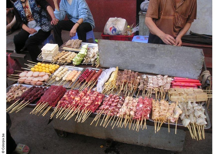 Photo food stand, Peking