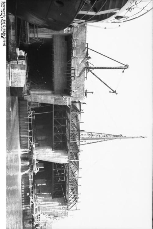 France - Brest - construction of submarine bunker