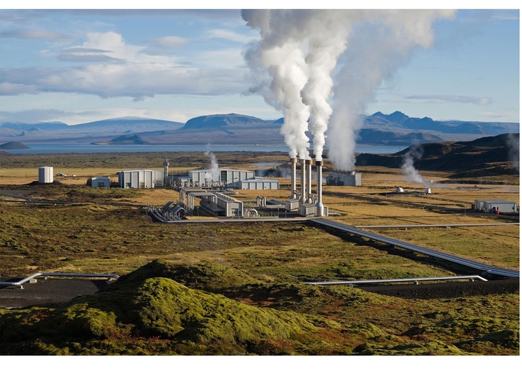 Photo Geothermal power plant