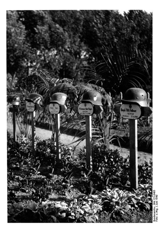 Photo German graves in North France