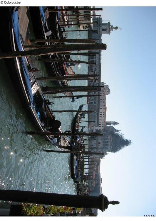 gondalas on the Grand Canal