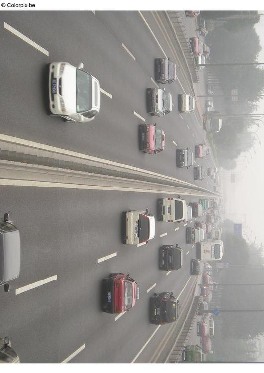 highway smog, Peking