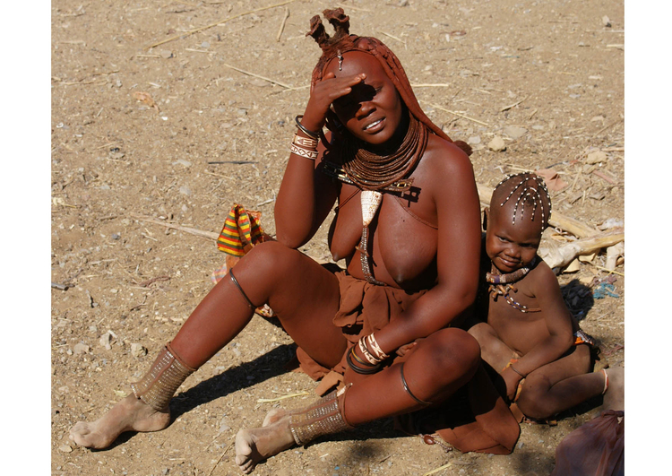 Photo Himba mother with child