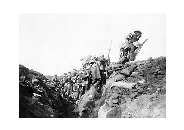 Photo in the trenches