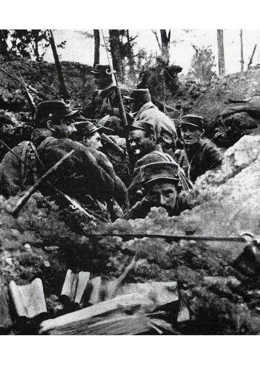 Photo in the trenches,1918
