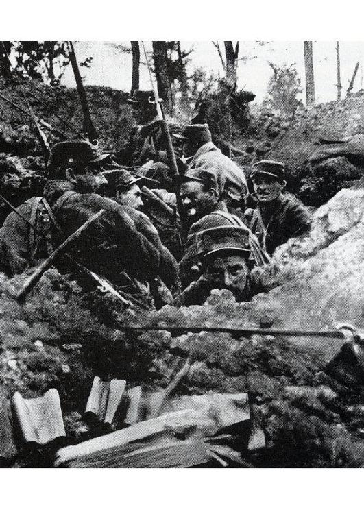in the trenches,1918